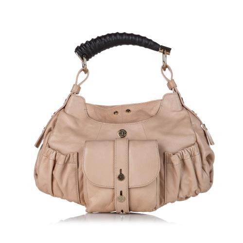 Saint Laurent Mombasa Leather Shoulder Bag