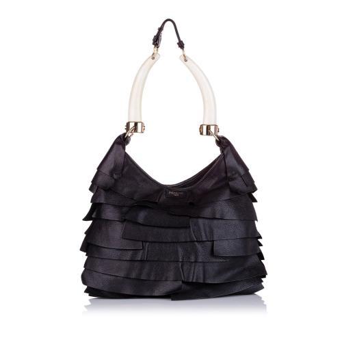 Saint Laurent Mombasa Saint Tropez Leather Shoulder Bag