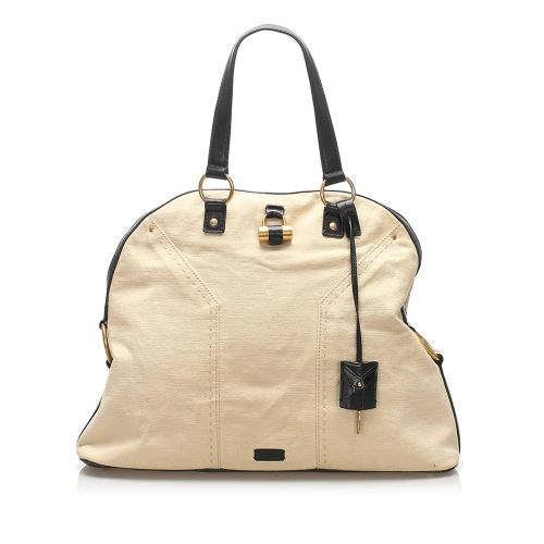 Saint Laurent Muse Canvas Handbag