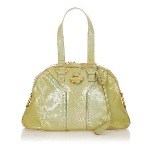 Saint Laurent Muse Patent Leather Handbag