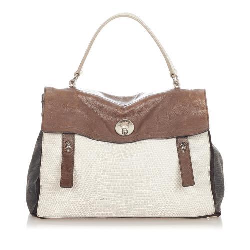 Saint Laurent Muse Two Embossed Leather Handbag