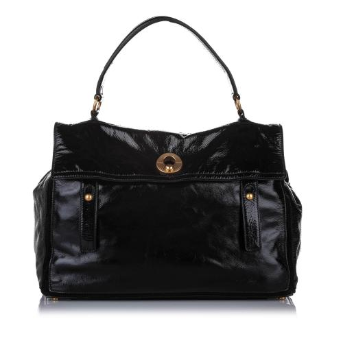 Saint Laurent Muse Two Patent Leather Handbag