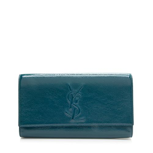 Saint Laurent Patent Leather Belle de Jour Clutch