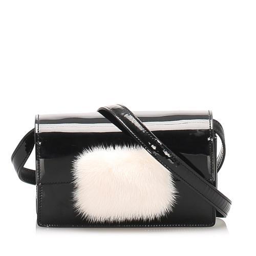 Saint Laurent Patent Leather Crossbody Bag