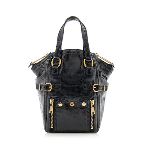 Saint Laurent Patent Leather Downtown Mini Tote