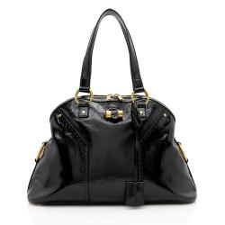 Saint Laurent Patent Leather Muse Large Satchel