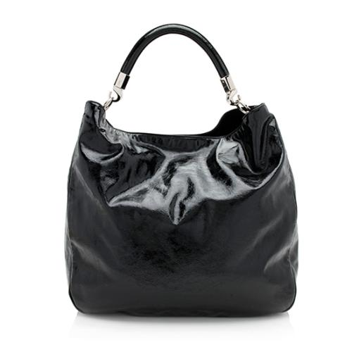 Saint Laurent Patent Leather Roady Hobo