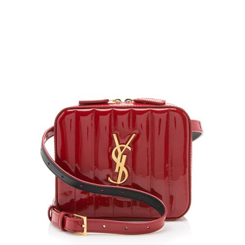 Saint Laurent Patent Leather Vicky Belt Bag