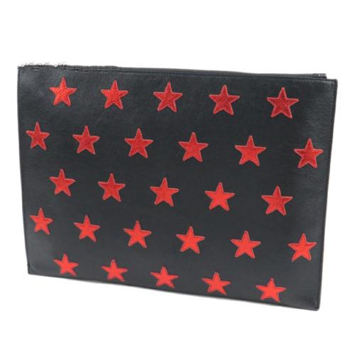 Saint Laurent Leather Poncho Lux Stars Document Case