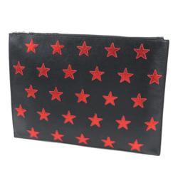 Saint Laurent Leather Poncho Lux Stars Document Case