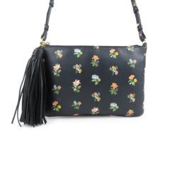 Saint Laurent Leather Praire Flower Crossbody Bag