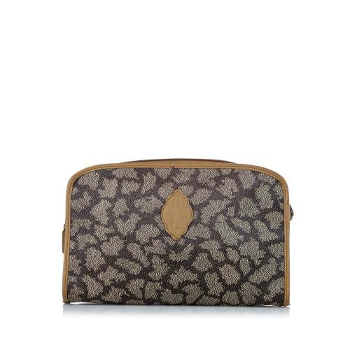 Saint Laurent Printed Leather Clutch Bag