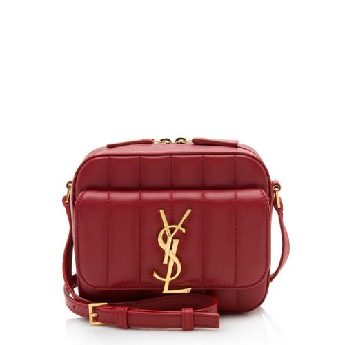 Saint Laurent Quilted Lambskin Vicky Toy Mini Camera Bag