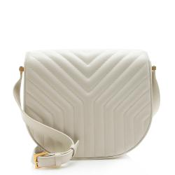 Saint Laurent Quilted Leather Joan Flap Shoulder Bag
