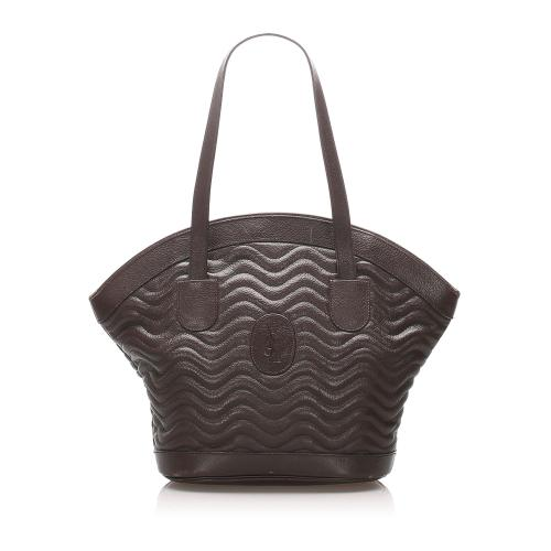 Saint Laurent Quilted Leather Tote