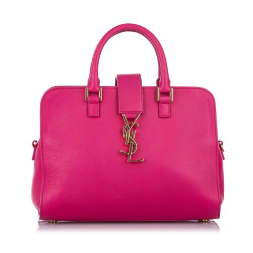 Saint Laurent Small Cabas Monogram Leather Handbag