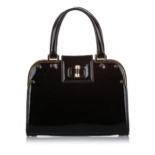Saint Laurent Small Uptown Patent Leather Handbag