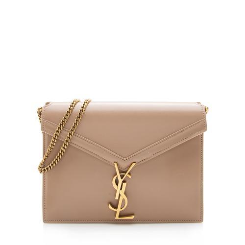 Saint Laurent Smooth Calfskin Monogram Cassandra Shoulder Bag