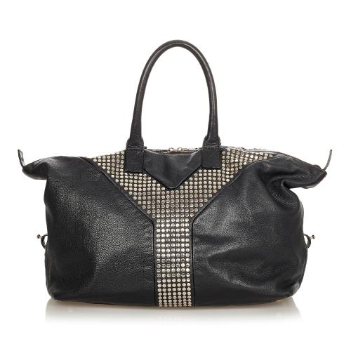 Saint Laurent Studded Easy Y Leather Tote Bag