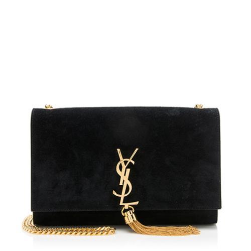 Saint Laurent Suede Classic Kate Tassel Medium Shoulder Bag