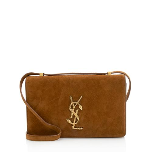 Saint Laurent Suede Snake Monogram Dylan Small Crossbody