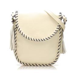 Saint Laurent Tassel Leather Crossbody Bag