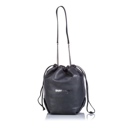 Saint Laurent Leather Teddy Bucket Bag