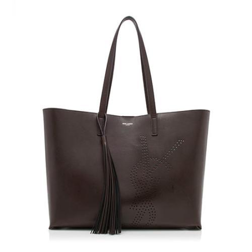 Saint Laurent Vintage Leather Tassel Shopping Tote