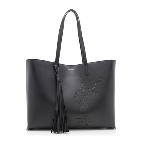 Saint Laurent Vintage Leather Tassle Shopping Tote