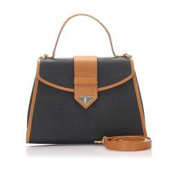 Saint Laurent Leather Weaved Satchel