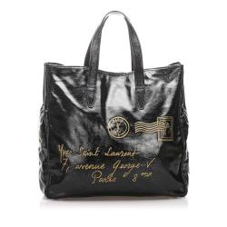 Saint Laurent Patent Leather Y Mail Tote