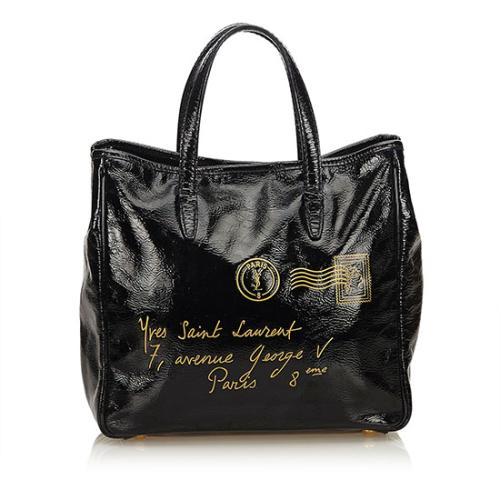 Saint Laurent Patent Leather Y-Mail Small Tote