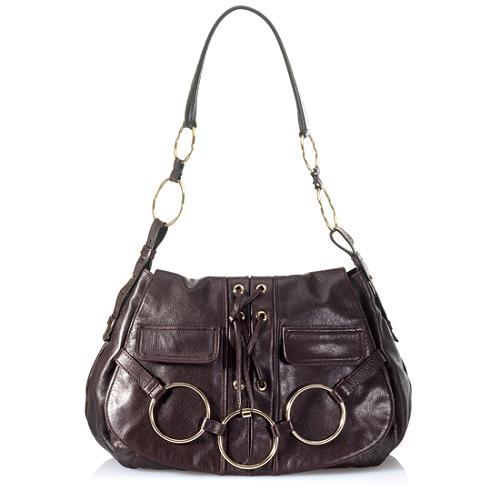 Yves Saint Laurent Laced Hobo Handbag
