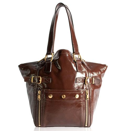 Yves Saint Laurent Leather Downtown Small Tote
