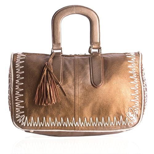 Yves Saint Laurent Metallic Doctors Satchel Handbag