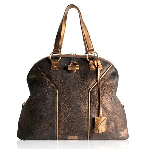 Yves Saint Laurent Metallic Muse Satchel Handbag