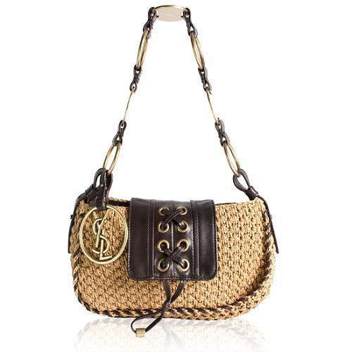 Yves Saint Laurent Raffia Small Shoulder Handbag