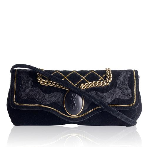 Yves Saint Laurent Velvet Clutch