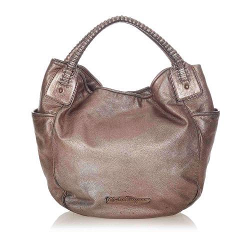 Salvatore Ferragamo Bea Leather Hobo Bag