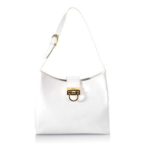 Salvatore Ferragamo Calf Leather Shoulder Handbag
