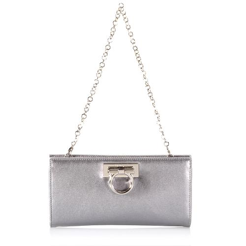 Salvatore Ferragamo Capra Flair Clutch