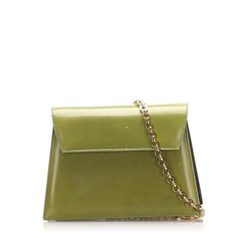 Salvatore Ferragamo Glazed Leather Chain Crossbody Bag