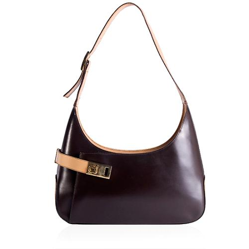 Salvatore Ferragamo Classic Leather Shoulder Handbag