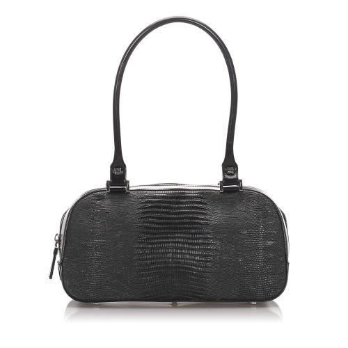 Salvatore Ferragamo Embossed Leather Satchel