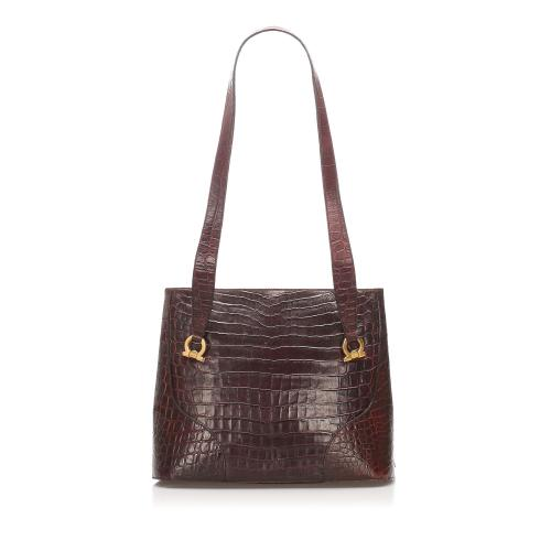 Salvatore Ferragamo Embossed Leather Tote