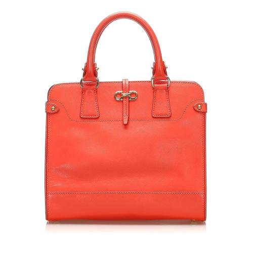 Salvatore Ferragamo Gancini Beky Leather Handbag