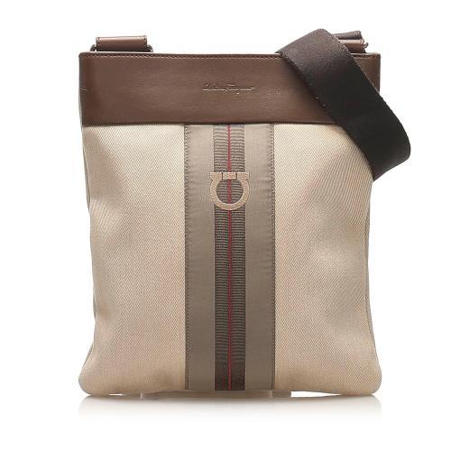 Salvatore Ferragamo Gancini Canvas Crossbody Bag