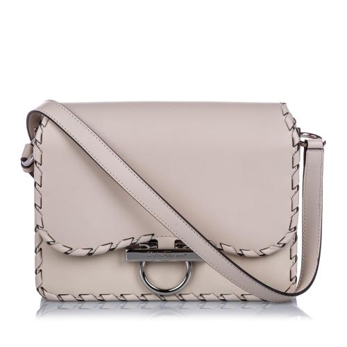 Salvatore Ferragamo Leather Gancini Flap Crossbody Bag
