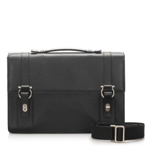Salvatore Ferragamo Leather Gancini Briefcase