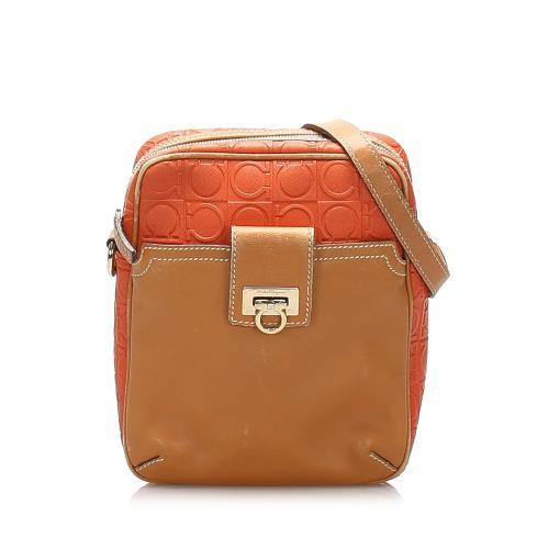 Salvatore Ferragamo Gancini Leather Crossbody Bag